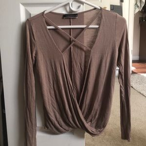 Long Sleeved Open Front Top